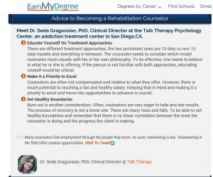 Talk Therapy on EarMyDegree.com