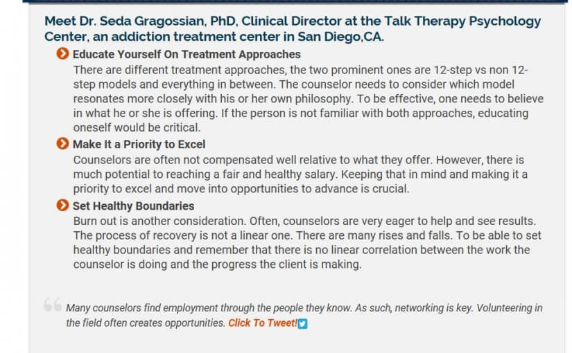 Our very own Dr. Gragossian was recently interviewed